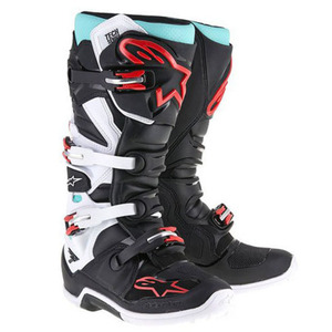 38-40004 | Alpinestars Tech 7 crossisaappaat musta/turkoosi/valk./pun. 45,5