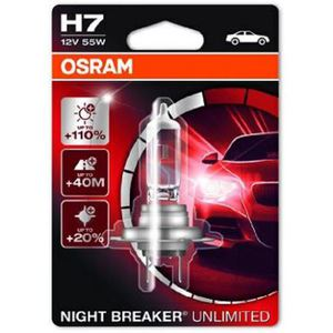 43-1987 | Osram Night Breaker Unlimited H7-polttimo +110 % 12 V