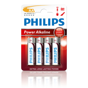 47-5876 | Philips Power Alkaline AA (LR6) paristo 4kpl