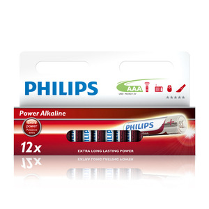 47-5877 | Philips Power Alkaline AAA (LR03) paristo 12kpl