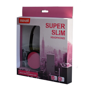 47-6738 | Maxell HP-200 Super Slims sankakuulokkeet pink