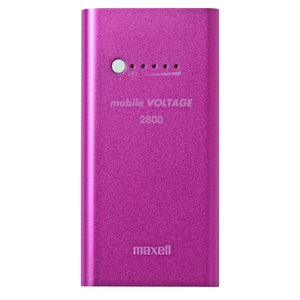 47-6774 | Maxell Power Bank 2800mAh Pinkki