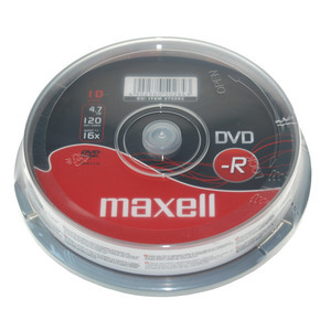 47-9086 | Maxell DVD-R levy 16x 4,7GB Cakebox 10kpl