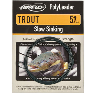 56-3150 | Airflo Polyleader Trout Clear Floating 5'