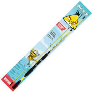 56-4197 | Rapala Angry Birds Yellow Bird Spinning Combo