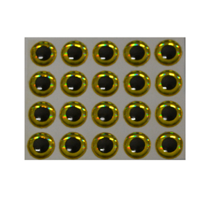 56-4311 | Hends Epoxy Eyes 3d  9mm gold holographic