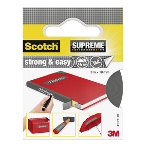 60-0734 | Scotch® SUPREME Strong & Easy Kangasteippi harmaa 3 m x 19 mm