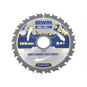 78-4890 | Irwin Weldtec pyörösahan terä 165mm 24teeth