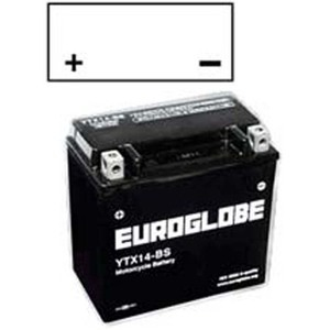 "90-0020 | Euroglobe MP-akku 12V 12Ah ""YTX14-BS"" (P152xL88xK147mm)"