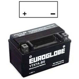 "90-0040 | Euroglobe MP-akku 12V 6Ah ""YTX7A-BS"" (P152xL88xK94mm)"