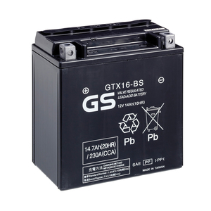 "90-0650 | GS MP-akku 12V 14Ah ""GTX16-BS/YTX16-BS"""