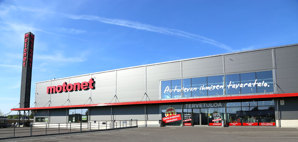Motonet department store in Turku, Finland